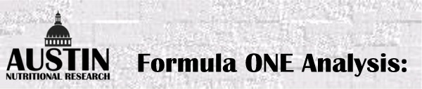 Formula One Nutritional Supplement Vitamin Packet Special Analysis