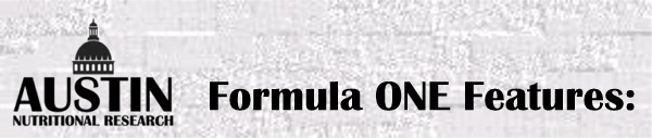 Formula One Nutritional Supplement Vitamin Packet Special Features